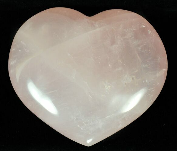 "3.6"" Polished Rose Quartz Heart - Madagascar"